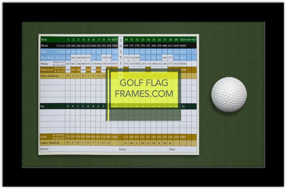 Golf Ball Frames Golfflagframes