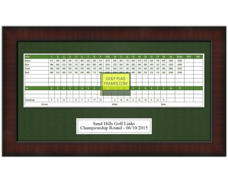 This golf scorecard frame holds a 5x12 scorecard. It is 8x15 and is made from moulding 7352.