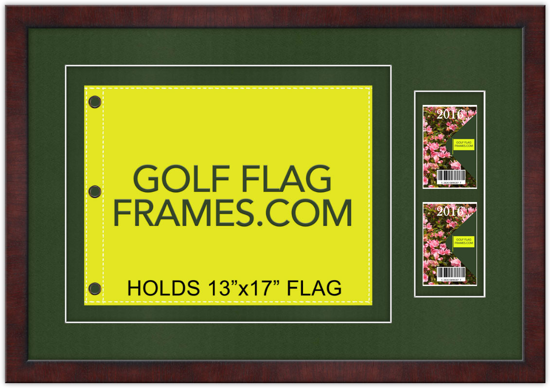20295 brown frame to hold 1317 golf flag and tickets badges 20295 brown frame jeuxipadfo Images