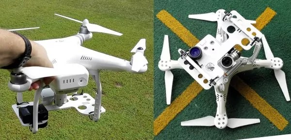 MapGage offers cost effective solutions to capture NDVI maps of Golf Clubs and plantations using an adapter to attach any NDVI NIR camera to a DJI or 3DR drone multicopter.