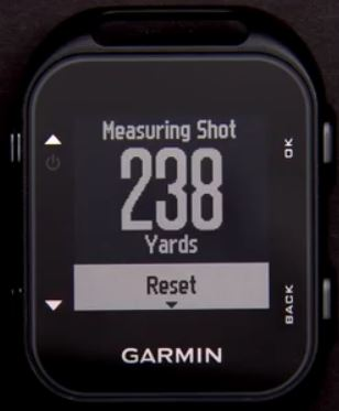garmin approach g10 shot distance measurement