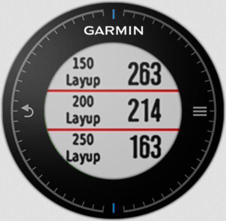 garmin approach s6 layup distances