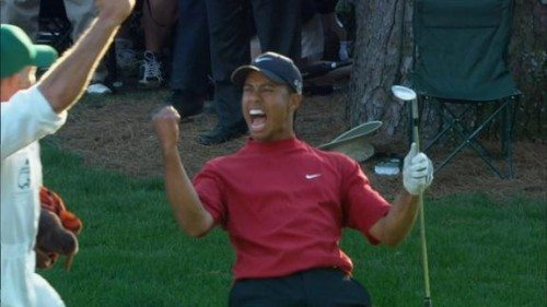 12 years ago today  tiger woods u0026 39  amazing 16th hole chip in
