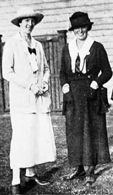 A photograph of Ada Mackenzie and Alexa Stirling, kindly supplied by Margaret McLaren