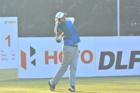 Amandeep Drall took her maiden tour victory at the Prestige Golfshire
