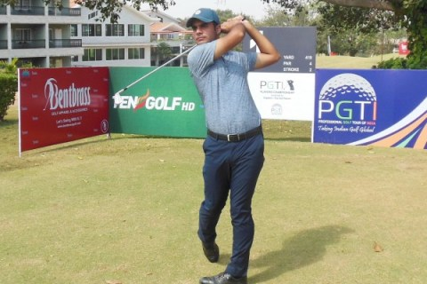 Shubhankar Sharma fired 64 in the third round of the Players Championship