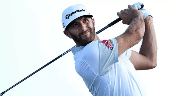 Dustin Johnson is playing with a craftsman like symmetry this week in the Bahamas. With scores of 66 and 66 he shares the lead with Hideki Matsuyama