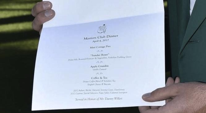 Masters Club Dinner Invite