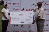 Tvesa Malik with her first winnings on the WGAI Tour