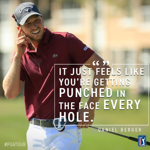 Daniel Berger is inside the top ten despite being troubled by PGA National