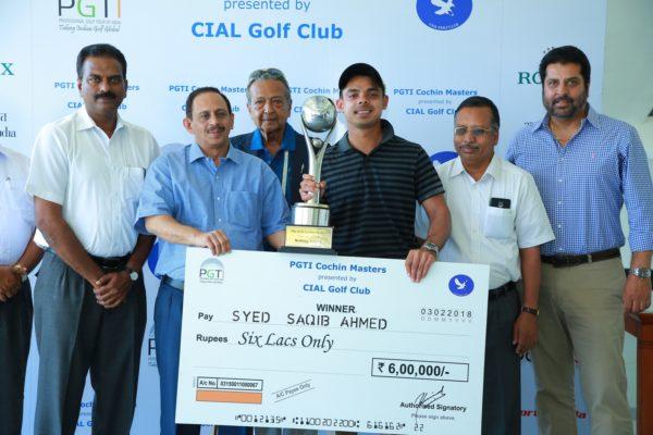 Syed Saqib Ahmed scores maiden PGTI Tour victory