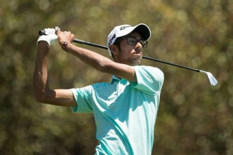 Akshay Bhatia endured a 76 in the final round to win the Junior Invitational