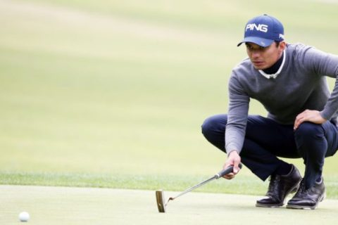 Ajeetesh Sandhu remains in contention at the Maekyung Open