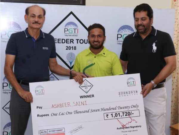 Ashbeer Saini wins PGTI Feeder Tour event
