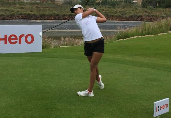 Tvesa Malik has a two stroke lead at Prestige Golfshire