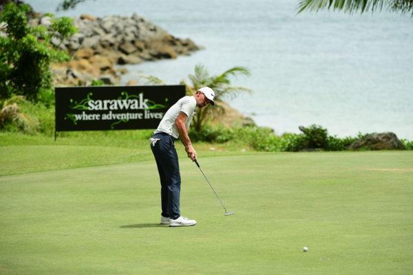 Paul Peterson at the Sarawak Championship