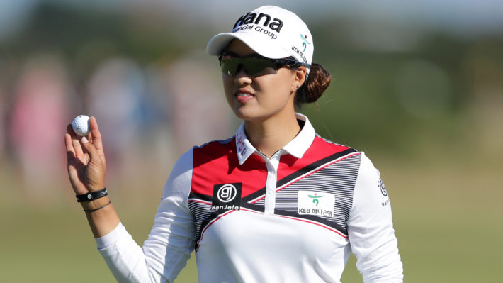 Minjee Lee leads the Women's British Open