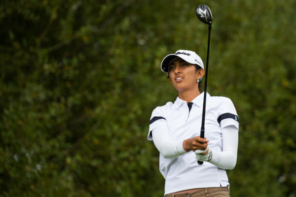 Aditi Ashok during the first round of the Ladies Open de France - LET Image