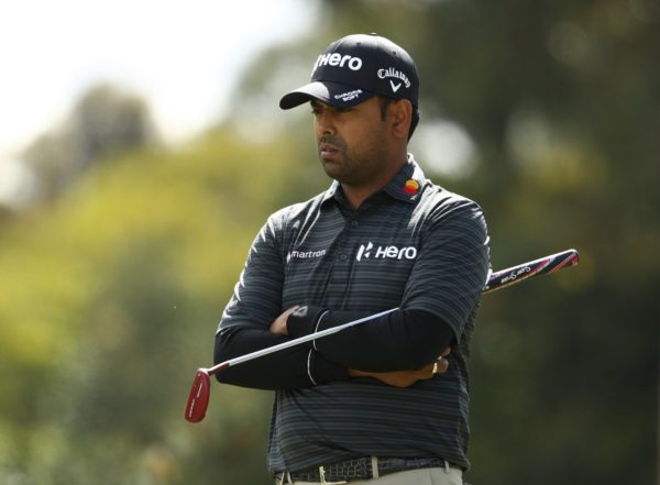 Anirban Lahiri was in firm control during the first round of the World Cup of Golf