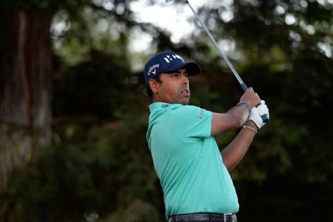 Anirban Lahiri during the Safeway Open on the PGA TOUR