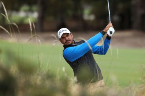 Gaganjeet Bhullar played solid golf in the first round of the World Cup of Golf