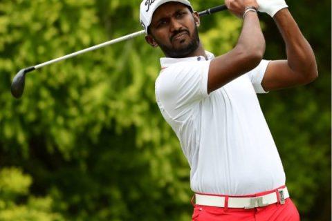 Chikkarangappa S in T2 at Afrasia Bank Mauritius Open