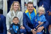 Henrik Stenson with his family during the Ryder Cup in 2018