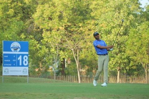 Priyanshu Singh during the final stage of PGTI TOUR Qualifying School