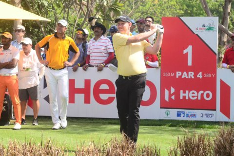 Stephen Gallacher during the final round of the Hero Indian Open