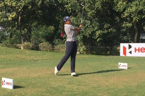 Gaurika Bishnoi, during the second round of the fifth leg of the Hero Women's Pro Golf Tour at Classic Golf & Country Club