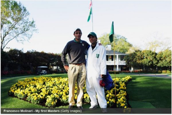 Francesco Molinari at the Masters Tournaments