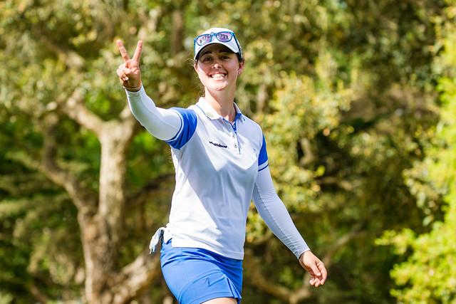 28/04/2019. Ladies European Tour 2019. Lalla Meryem Cup, Royal Golf Dar Es Salam, Rabat, Morocco. 25-28 April 2019. Nuria Iturrios of Spain during the final round. Credit: Tristan Jones