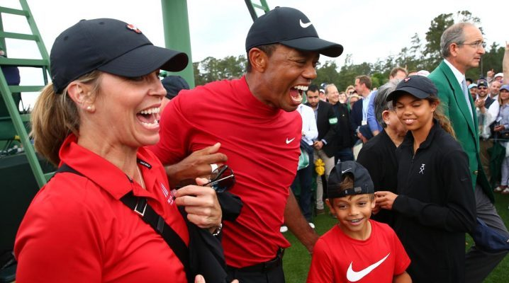 Tiger Celebrates his Masters victory - Getty Images - Masters 2019