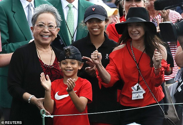 Tiger Family during the winning moments of Masters 2019 - Reuters Images