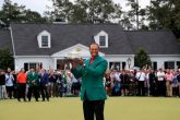 Tiger Woods with the Masters trophy