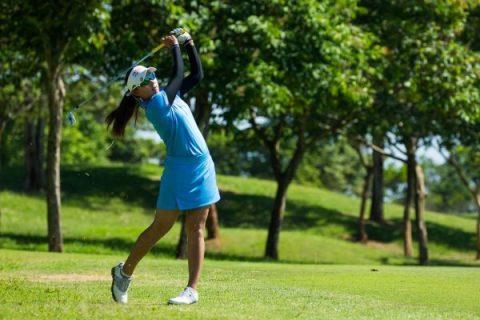 21/06/2019. Alps Tour 2019. Ladies European Thailand Championship, Phoenix Gold Golf & Country Club, Pattaya, Chonburi. 20-23 June 2019. Atthaya Thitikul of Thailand during the second round. Credit: Tristan Jones