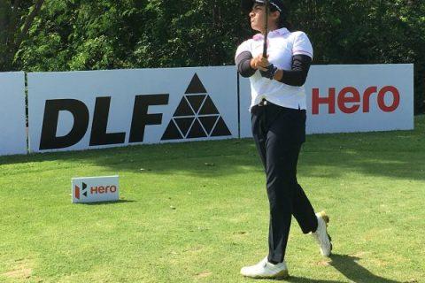 Gauri Karhade in action during final round Boulder Hills