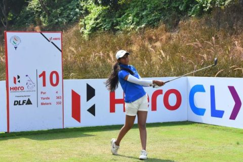 Pranavi Urs tied 10th at the rd 1 of Hero Women's Indian Open