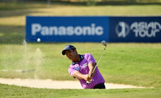 GURGAON-INDIA-Shiv Kapur of India pictured on Sunday November 17, 2019 during the weather affected third and final round of the USD$ 400.000 Panasonic Open India at the Classic Golf and Country Club, Gurgaon, India. Picture by Paul Lakatos/Asian Tour.