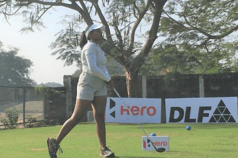 Oviya Reddi shares rd 2 .ead with Amandeep Drall at third leg of Hero WPGT