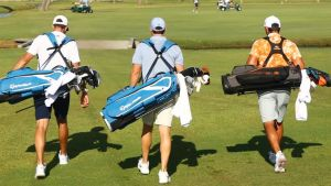 Carrying their own bags - McIlroy_Fowler - Sky Sports Image