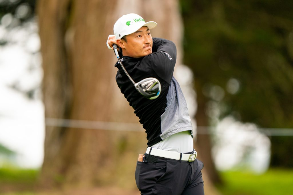 Haotong Li of China hits his tee shot on the sixth hole during the third round of the 102nd PGA Championship at TPC Harding Park. (Photo by Darren Carroll/PGA of America)