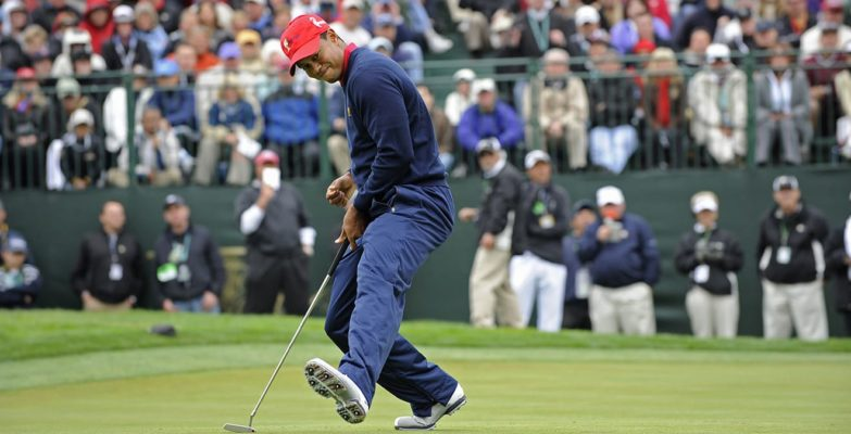 Tiger Woods at The Presidents Cup in 2009 at TPC Harding Park. (Chris Condon - PGA TOUR)