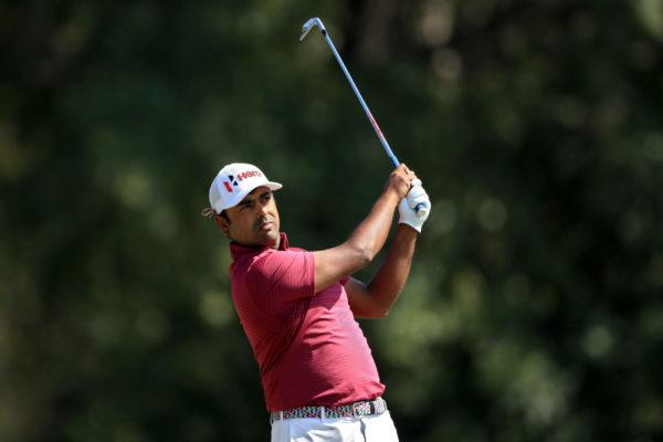 Anirban Lahiri of India plays his shot from the fourth tee during the third round of the Sanderson Farms Championship at The Country Club of Jackson - Sam Greenwood/Getty Images