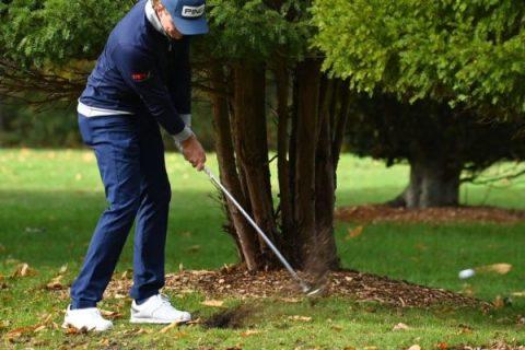 Eddie Pepperell playing round one of BMW PGA Championship