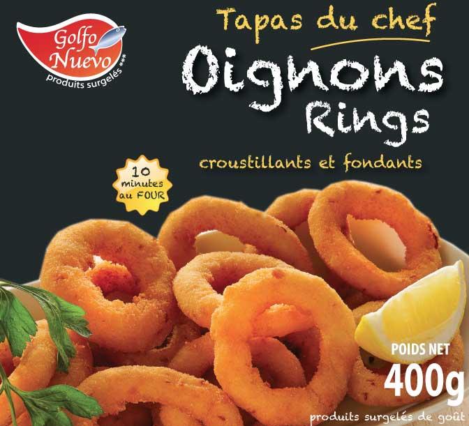 oignons rings panés