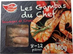 Crevettes crues et sauvages