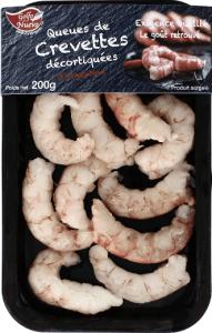 Queues de Crevettes décortiquées