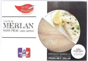 Filets de Merlan produits surgelés