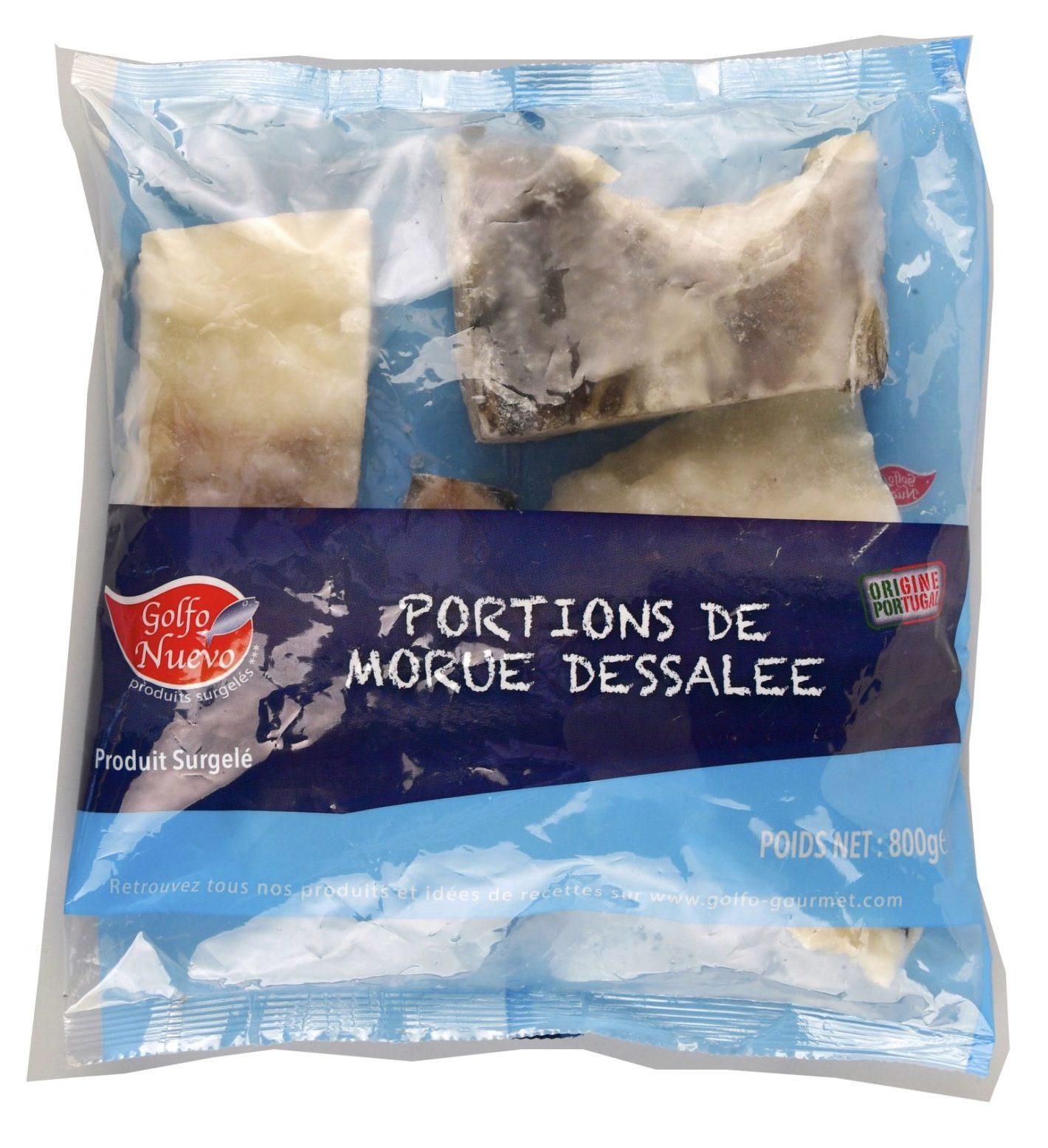 portions de morue dessalée